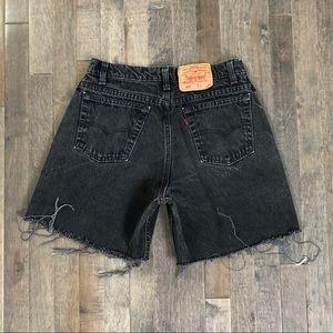 Vintage Levi's 560 cut off jean shorts!!!